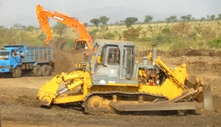 Machinery upgrading road for sugar plantations near Hana, Bodi Area